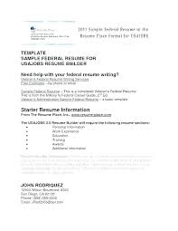 Federal Resume Template Beauteous Federal Resume Templates Docs Sample Template Google Job