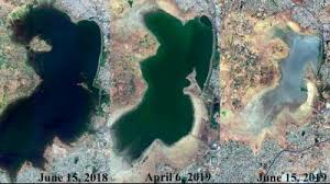 Video By The Lake Watch Time Lapse Video Shows Chennais Puzhal Lake Drying