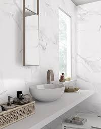 white marble bathroom tiles. Unique Bathroom Matt White Marble Effect On Bathroom Tiles A