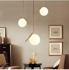 Moderne Minimalistische Art Deco Hanglampen Bal Glas Shade Globe Led