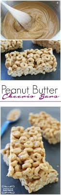 peanut er cheerio bars homemade breakfast recipe or snack recipe for an easy treat