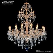 large silver gold color chandelier lamp luxurious crystal lighting fixture 3 tiers 29 arms chandelier for hotel lobby restaurant large silver gold color