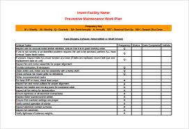 37 Preventive Maintenance Schedule Templates Word Excel Pdf
