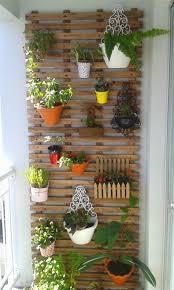 vertical garden design on balcony wall