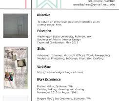 Impressive Interior Designer Sample Resume Format Design For