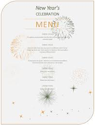 Party Menu Template New Year Party Menu Template Excel Word Templates