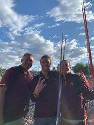 """Priscilla Schultz on Twitter: """"All smiles here. Coach Blu and our javelin  throwers. Great job Connery and Carlan! First time at PAC12 Conference  Champs! #GoDevils #ForksUp… https://t.co/fjkfxVwrGh"""""""