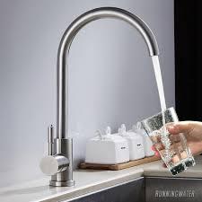 Kitchen Sink Taps Basin Modern Mixer Tap Swivel Spout Single Lever