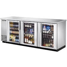 Glass Refrigerator True Tbb 4g S Ld 90 Stainless Steel Glass Door Back Bar