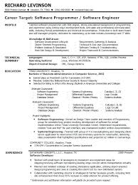 Software Engineer Resume Interesting Sample Resume For Software Engineer Software Developer Resume Sample