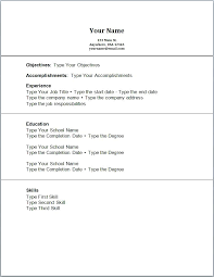 First Time Resume Template Resume Template First Job First Job Resume Samples High School Job