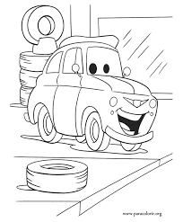 Small Picture Cars Movie Luigi coloring page