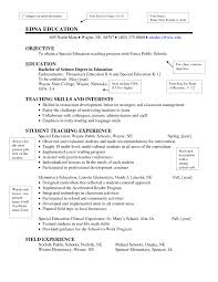 25 Cover Letter Template For Sample Resume Special Education With