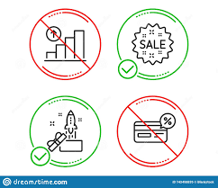 Innovation Sale And Graph Chart Icons Set Cashback Sign