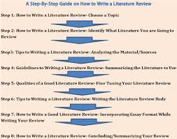 a step by step guide on how to write a good literature review