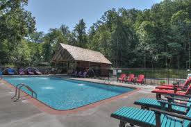 Wonderful Exclusive Outdoor Pool At The Big Moose Lodge