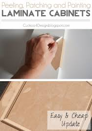 how to l laminate off kitchen cabinets patch them and paint them for a brand