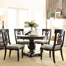 Oak Round Dining Table And Chairs Belmeade Wood Round Dining Table In Old World Oak By Riverside