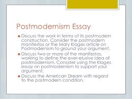 elit c class post qhq version postmodernism essay