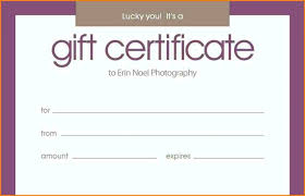 Printable Gift Certificates Templates Free Interesting Donation Gift Certificate Template Lcysne
