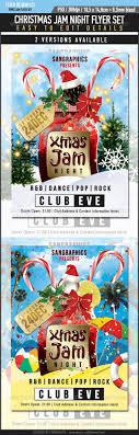 beautiful christmas posters and flyer design templates entheos christmas jam flyer set