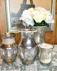 how to paint a unique mercury glass look finish using dollar vases