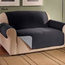 sofa leather covers sure fit stretch leather two piece sofa slip cover black or navy colors