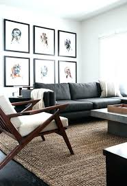 dark gray couch living room astonishing decor color schemes brown plaid rug grey fabric rectangle