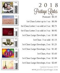 Stamp Price Chart 2018 Postage Price Chart New Postage Rates Take Effect