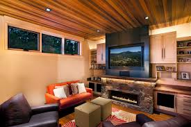living room with electric fireplace and tv. Electric Fireplace Ideas Family Room Contemporary With Built Ins Tv Above Living And N