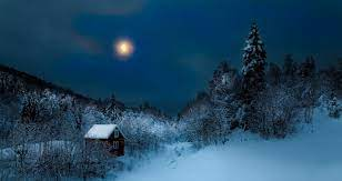 Wallpaper : sunlight, landscape, forest, night, nature, sky, snow, winter, Moon, hills, mist, moonlight, atmosphere, Freezing, cottage, tree, weather, season, mountain range 1920x1020 - SSCSGO - 145651 - HD Wallpapers - WallHere