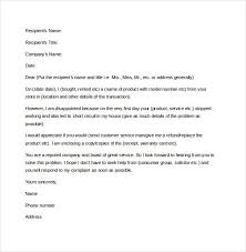 Complaint Format 100 Letter Of Complaint Templates Free Sample Example Format in 63