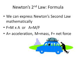 8 newton s 2nd law formula