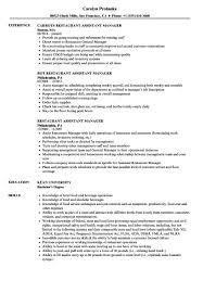 Sample Restaurant Manager Resume Professional Profile Restaurant