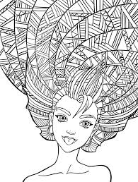 Small Picture 10 Crazy Hair Adult Coloring Pages In Funny glumme
