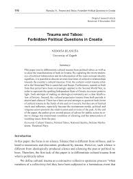 Taboo The Hidden Culture Of A Red Light Area Pdf Pdf Trauma And Taboo Forbidden Political Questions In Croatia