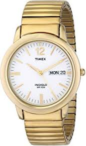 amazon com timex men s t20461 easy reader silver tone stainless timex men s t21942 elevated classics dress gold tone expansion band watch