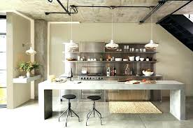 industrial kitchen furniture. Industrial Kitchen Set Stools Modest Raw Concrete Island Backless Bar Stainless . Furniture