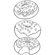 Small Picture Tasty Donut coloring page Polyvore