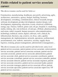 ... 16. Fields related to patient service associate ...
