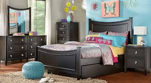 Affordable Queen Bedroom Sets Jaclyn Place Black 5 Pc Full Bedroom
