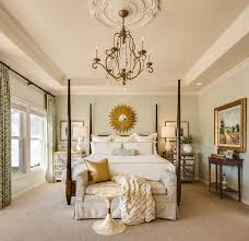 Traditional Master Bedroom Exceptional Ideas For Decorating With A Sunburst Mirror Beautiful