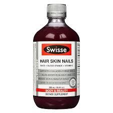 swisse hair skin nails liquid supplement blood orange16 9 oz