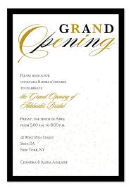 Business Invitation Card Format Grand Opening Confetti Grand Opening Invitations