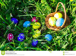 Easter Egg Hunt Stock Photo Image Of Decorated Happy
