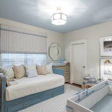 daybed in nursery. Simple Daybed Blue Nursery Ceiling With Octagon Pendant Inside Daybed In R