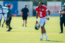 Stay up to date with nfl player news, rumors, updates, analysis benched late in losing effort hurts completed just seven of his 20 passing attempts for 72 yards, no. The Backstory On Jalen Hurts Viral Backpack Al Com