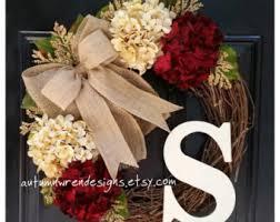 initial wreaths for front doorFront door wreaths  Etsy