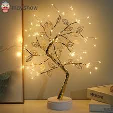 Đèn Led Dây Đồng 19.7 Inch Hình Cây Bonsai Có Công Tắc Cảm Ứng 72 Bóng - Đèn  chùm
