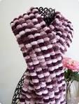 Вяжем шарф ленточной пряжей видео
